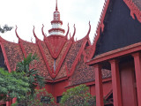 The decorative roof of the National Museum of Cambodia in Phnom Penh