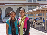 Two of our sponsored young ladies (college students) at the Royal University of Phnom Penh - Cambodia