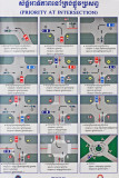 Poster of the rules for driving at intersections in Phnom Penh - no one follows these rules