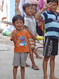 Children near the room of several of our sponsored young ladies (college students) - Phnom Penh, Cambodia
