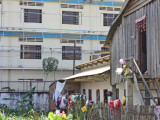The relatively poor neighborhood where some of our sponsored young ladies live while they attend college - Phnom Penh, Cambodia