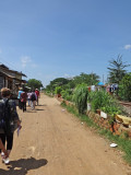While walking on the road toward the room of some of our other sponsored college young ladies - Phnom Penh, Cambodia