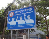 A political street sign - they are everywhere - Phnom Penh, Cambodsia