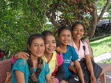 Some of our lovely, sponsored young ladies (college students) - Phnom Penh, Cambodia