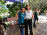 Judy with one of our sponsored young ladies (a college student) - Phnom Penh, Cambodia