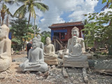 We stopped here for a stone carving demonstration -  we were on our way to see our sponsored high school young ladies - Cambodia