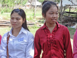 Our sponsored young ladies (high school students) - rural village in the Sandan District of the Kompong Thom Province, Cambodia