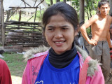 A sponsored young lady (high school student) - rural village in the Sandan District of the Kompong Thom Province, Cambodia