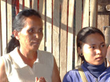 A sponsored  young lady (high school student) and her mother - they agreed to let us see the interior of their house