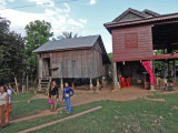 A sponsored young lady (high school student) lives in the stilted house on the left - we went inside