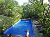 The pool at the Sambo Village Hotel, Kompong Thom Province, Cambodia