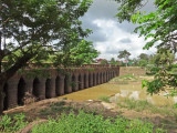 The ancient Spean Praptos Bridge - on the dirt road from Angkor to Phnom Chisor, Cambodia