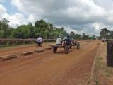The dirt road on the Spean Praptos Bridge - connecting Angkor to Phnom Chisor, Cambodia