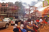 Street scene as we entered Siem Reap, Cambodia