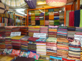 A textile store at the Old Market in Siem Reap, Cambodia