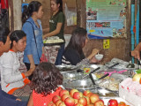 Food for sale (restaurant style) at the Old Market in Siem Reap, Cambodia