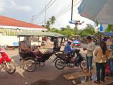 A tuk-tuk near the Old Market in Siem Reap, Camboida