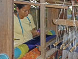 A working silk farm in the rural district of Puok - about a 20-minute drive from the center of Siem Reap, Cambodia