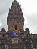 Tower of the Bakong Temple - Hindu temple constructed in the late 9th century c.e. - part of the Roluos Group, Cambodia