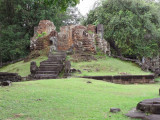 Structure (9th century c.e.) near the Bakong Temple and the moat surrounding the Temple - part of the Roluos Group, Cambodia