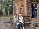 Helen, Stan and Judy at Preah Ko - Hindu temple constructed in the late 9th century c.e. - part of the Roluos Group, Cambodia