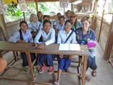 Members of the Women for Women Group in the class so the students could practice their English.