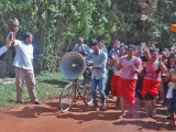 Annual parade in a small village to raise money for Hindu monks - Cambodia.