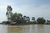 Houses (on stilts/piles) in a stilted village  on Tonle Sap Lake in the Siem Reap Province of Cambodia