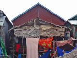 House (on stilts/piles) in a stilted village  on Tonle Sap Lake in the Siem Reap Province of Cambodia