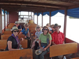 Our group while exploring the floating and stilted villages on Tonle Sap Lake in the Siem Reap Province of Cambodia