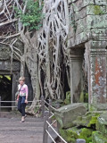 Janet at the Ta Prohm Temple in Angkor, Siem Reap Province, Cambodia