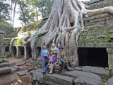 The group at the Ta Prohm Temple in Angkor, Siem Reap Province, Cambodia