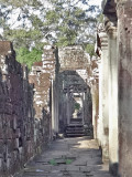Walkway in the Bayon Temple in Angkor Thom, Siem Reap Province, Cambodia