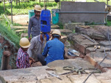 A restoration project at the Bayon Temple - one of many such projects throughout the Angkor Archaeological Park
