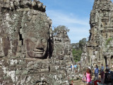 Stone towers with the faces of Avalokitesvara (Buddha of Compassion) -  Bayon Temple, Angkor Thom, Siem Reap Province, Cambodia