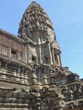 One of the five towers of Angkor Wat - the towers are shaped like lotus buds - Siem Reap Province, Cambodia