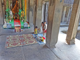 A religious shrine inside Anger Wat - Siem Reap Province, Cambodia