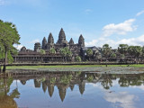 A reflecting pool at Angkor Wat, Siem Reap Province, Cambodia