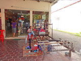 An unscheduled shopping stop - for jewelry and silks - Siem Reap Province, Cambodia