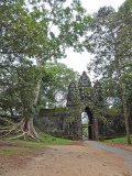 The north gate entrance to Angkor Thom - on our way to Preah Khan - Siem Reap Province, Cambodia