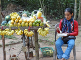 Fruit for sale - while we were walking on a road to Preah Khan, Angkor, Siem Reap, Cambodia