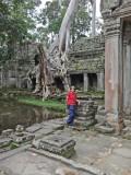 Judy at Preah Khan - Angkor, Siem Reap Province, Cambodia