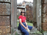 Judy at the East Mebon Temple - Angkor, Siem Reap Province, Cambodia