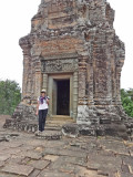 Sally at the East Mebon Temple - Angkor, Siem Reap Province, Cambodia