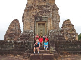 The whole group at the East Mebon Temple - Angkor, Siem Reap Province, Cambodi