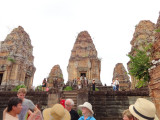 Stan, Helen and Janet are in front of the East Mebon Temple - Angkor, Siem Reap Province, Cambodia