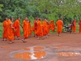 Monks near the Banteay Srei Temple - Angkor, Siem Reap Province, Cambodia