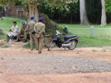 Cambodian police near the Banteay Srei Temple - Angkor, Siem Reap Province, Cambodia