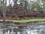 Banteay Srei - smaller in size than most of the other temples but beautifully decorated - Angkor, Siem Reap Province, Cambodia