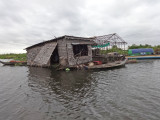 House in a floating village on Tonle Sap Lake - Siem Reap Province, Cambodia